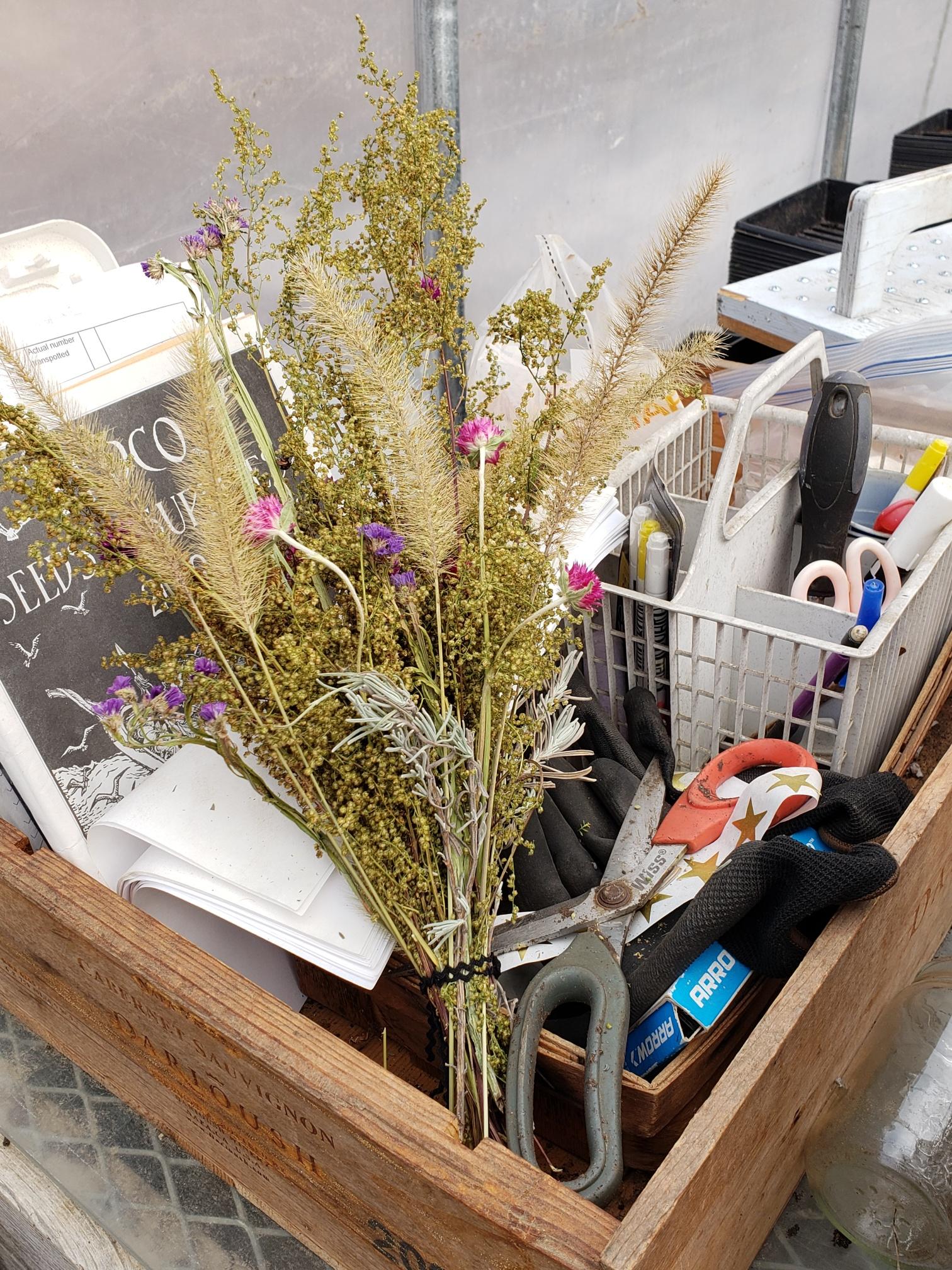 Dried Flower Bouquet on Desk