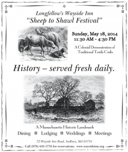 Sheep to Shawl Festival at the Wayside Inn